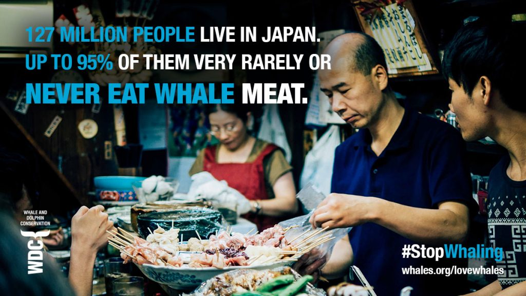 Eating whale meat stat